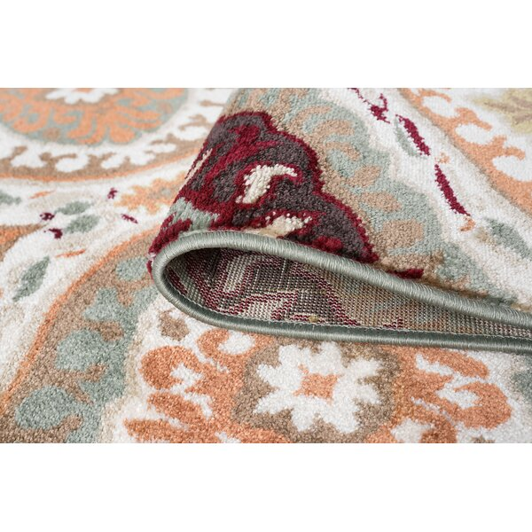 Nantucket Transitional Red/Green Area Rug by World Menagerie