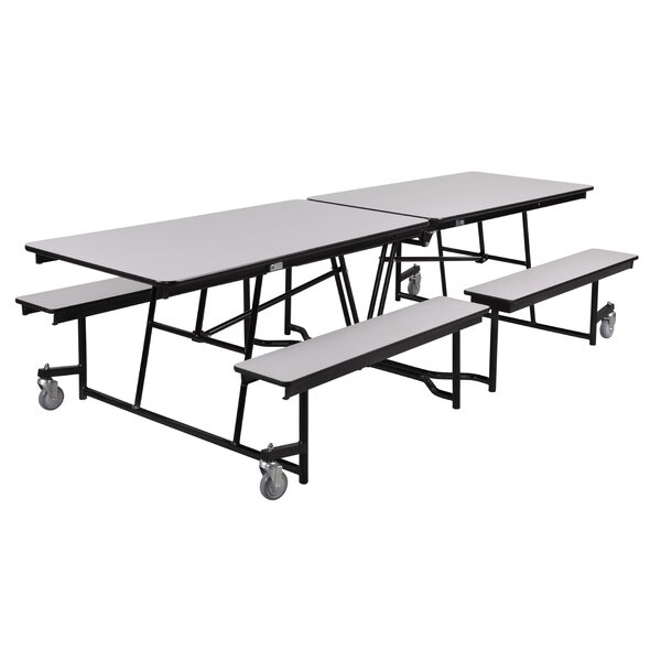 96 x 54.75 Plywood Rectangular Cafeteria Table by