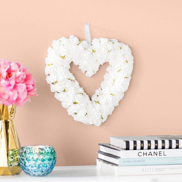 9.5 White Rose Wreath by Willa Arlo Interiors