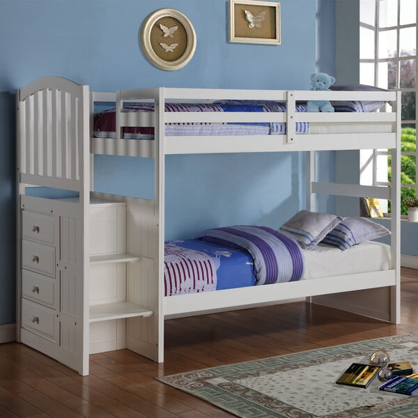 Samora Twin Bunk Bed with Drawers by Harriet Bee