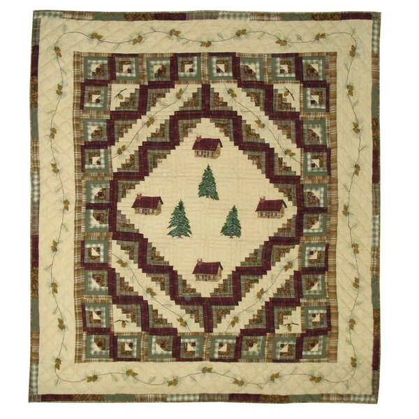 Forest Log Cabin Single Quilt