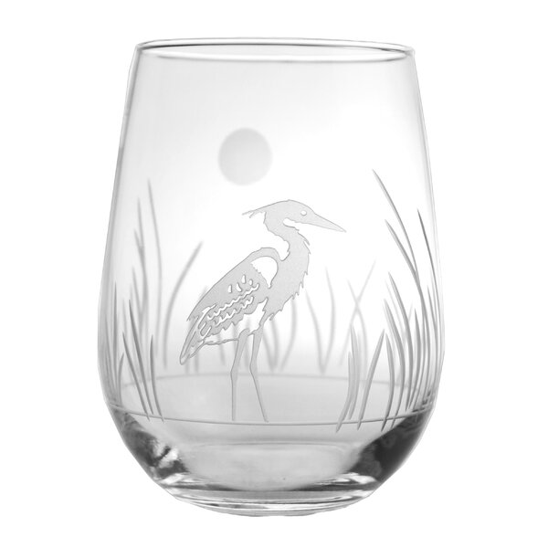 Heron 17 Oz. Stemless Wine Glass (Set of 4) by Rolf Glass
