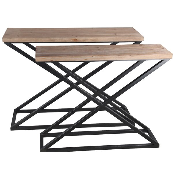 Review Mcmurray 2 Piece Console Table Set
