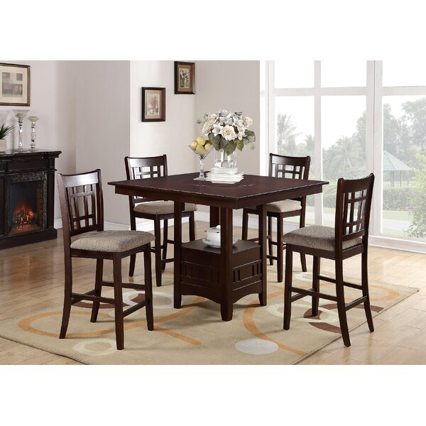 Doster 5 Piece Counter Height Solid Wood Dining Set by Red Barrel Studio