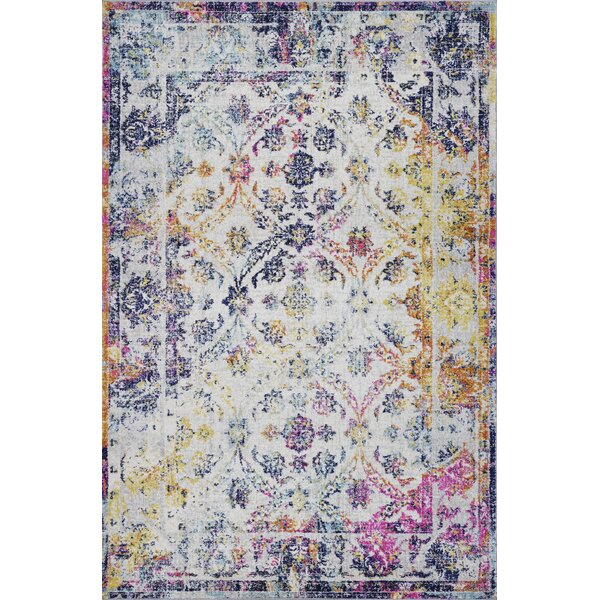 Crockett Yellow/Blue Area Rug by Bungalow Rose