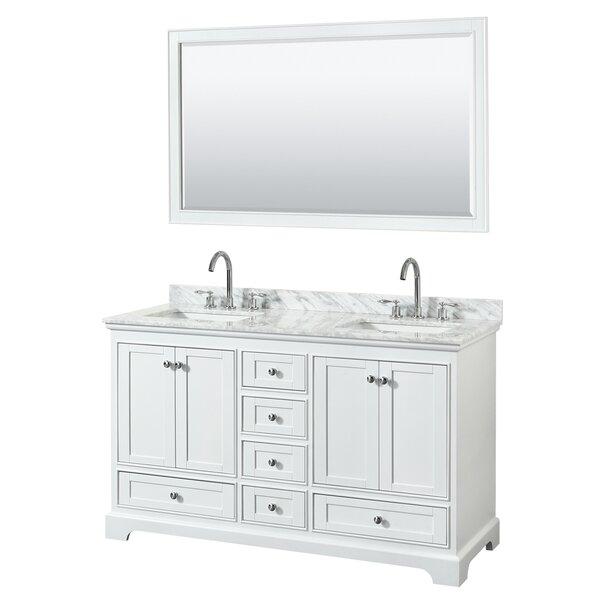 Deborah 60 Double Bathroom Vanity Set with Mirror