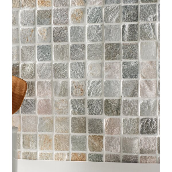 2 x 2 Slate Mosaic Tile in Golden White by MSI