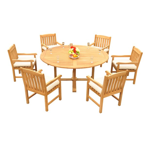 Mateer 7 Piece Teak Dining Set by Rosecliff Heights