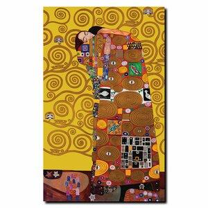 Fufillment by Gustav Klimt Framed Graphic Art on Wrapped Canvas by Trademark Fine Art