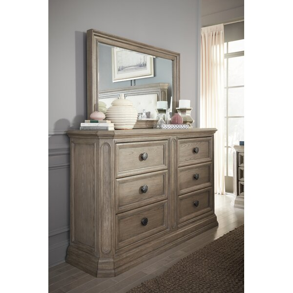 Thaxted 6 Drawer Double Dresser with Mirror by Darby Home Co