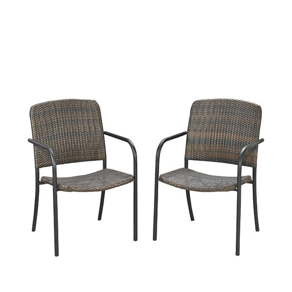 Cresson Stacking Patio Dining Chair (Set of 2) by Fleur De Lis Living