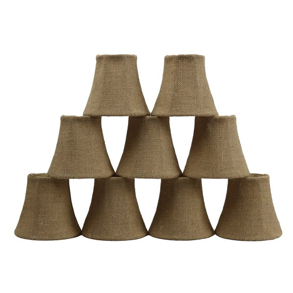 5 Burlap Bell Candelabra Shade (Set of 9) by Bay Isle Home
