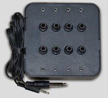 Eight Position Socket Stereo Jack Box in Black by Avid