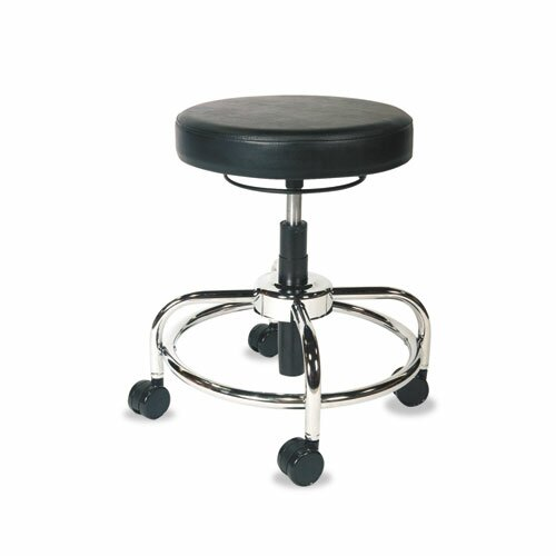 Height Adjustable Utility Stool with Dual Wheel by Alera®