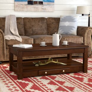 Bruton Lift Top Coffee Table Loon Peak