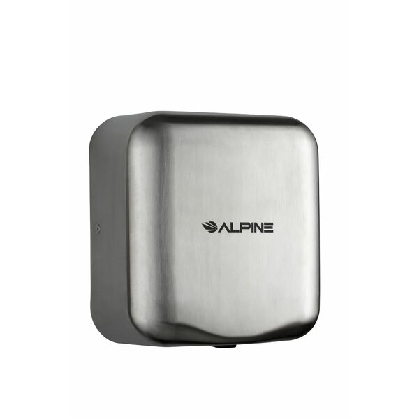 Hemlock High Speed 220 Volt Hand Dryer in Stainless Steel by Alpine Industries