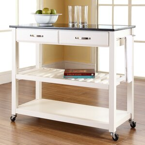 Saterfiel Kitchen Island with Granite Top by Brayden Studio Reviews