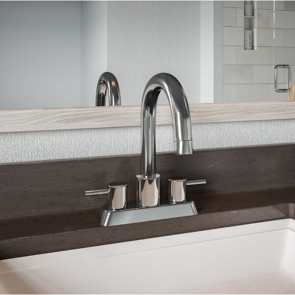 Aspasia Centerset Bathroom Faucet with Drain Assembly