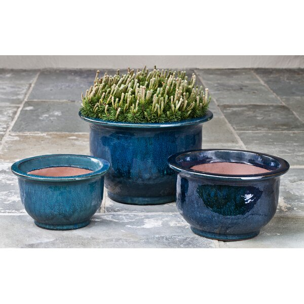 Ammons 3 Pieces Terra Cotta Pot Planter Set by Bloomsbury Market