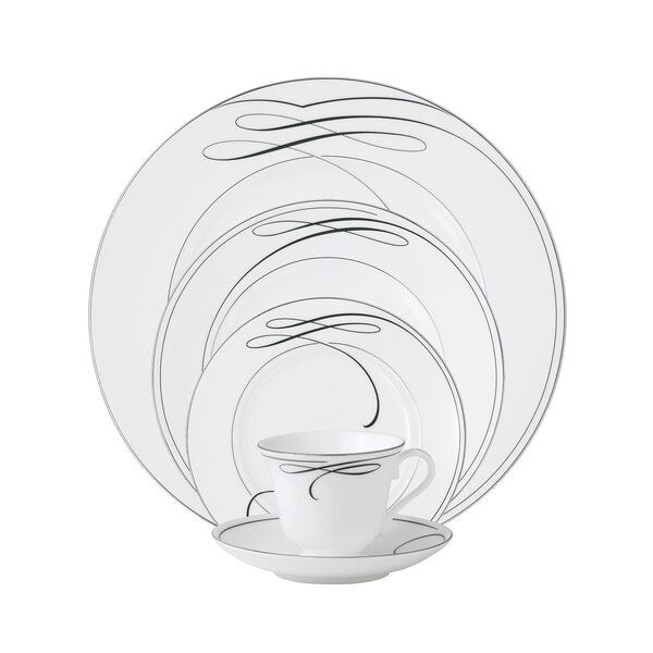 Ballet Ribbon Bone China 5 Piece Place Setting, Service for 1 by Waterford