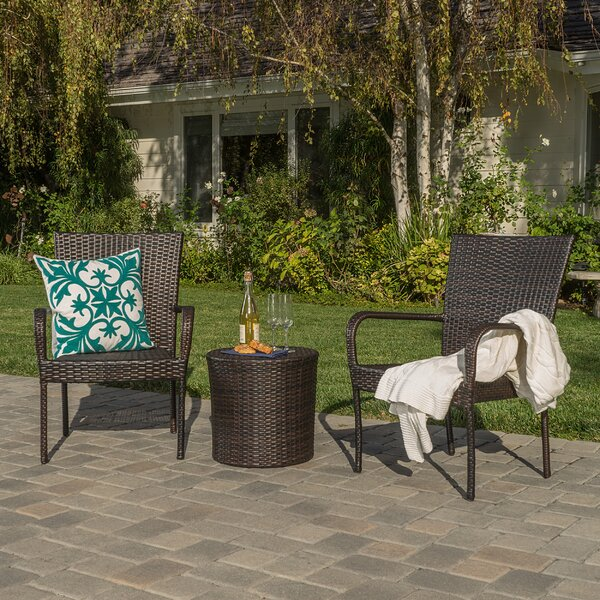 Stacie 3 Piece Rattan Conversation Set by Zipcode
