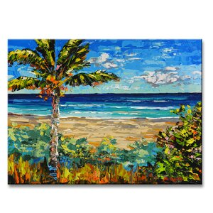 'Sugar Beach' by Sarah LaPierre Painting Print on Wrapped Canvas by Ready2hangart