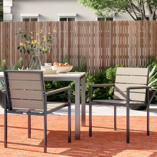 Shawn Stacking Patio Dining Chair (Set of 2) by Foundstone Foundstone