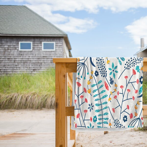 Koromiko Beach Towel by East Urban Home