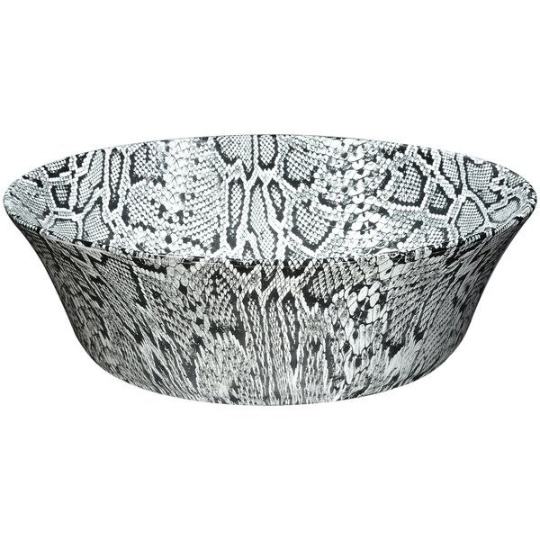 Diamond Back Crown Series Vitreous China Circular Vessel Bathroom Sink by ANZZI