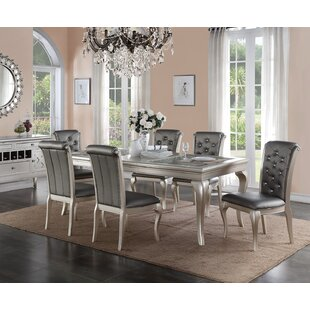 Glam Kitchen Dining Room Sets Youll Love Wayfair - Wayfair white table and chairs