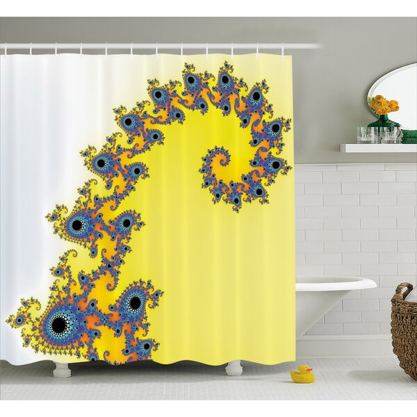 Trippy Seahorse Shower Curtain by East Urban Home