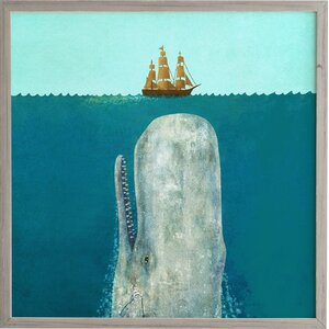 'The Whale' Framed Graphic Art by Wrought Studio