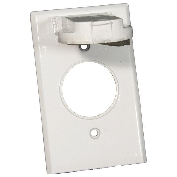 One Gang Weatherproof Covers in White for Vertical Single Receptacle by Morris Products