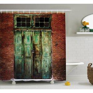 Rustic Rusty Old Retro Door Shower Curtain & Barn Door Shower Curtain | Wayfair pezcame.com