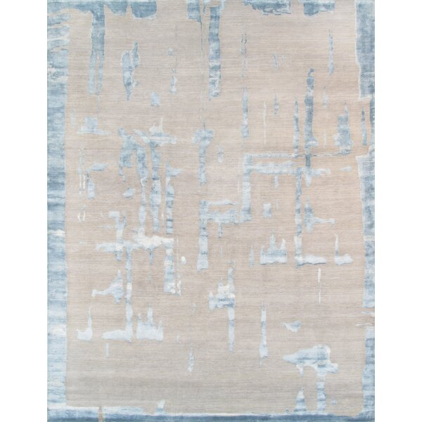 Hand-Knotted Wool Gray/Beige Area Rug by Pasargad