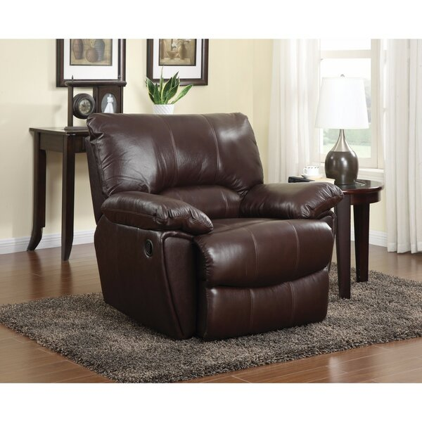 Wilham Dazzling Leatherette Power Recliner by Canora Grey