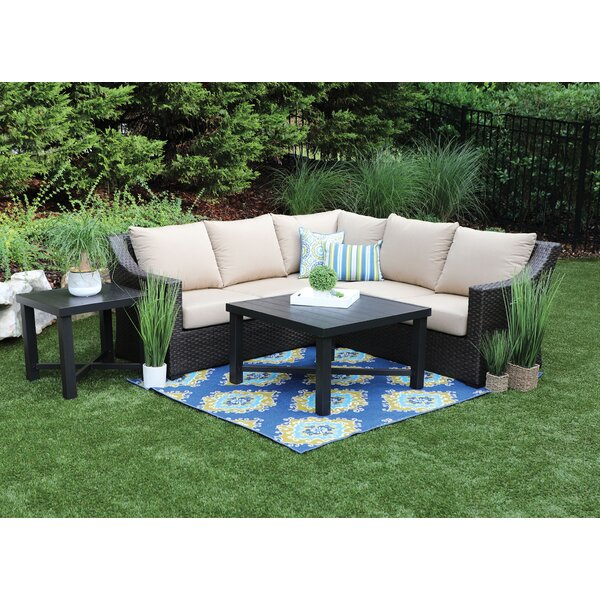 Labriola 5 Piece Sunbrella Sectional Set With Cushions By Bayou Breeze