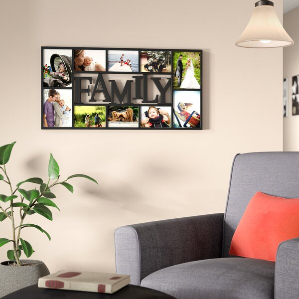 Saum 10 Opening Decorative Family Wall Hanging Collage Picture Frame by Andover Mills