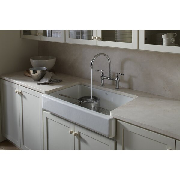 Whitehaven Self-Trimming 35-11/16 L x 21-9/16 W x 9-5/8 Under-Mount Single-Bowl Kitchen Sink with Short Apron by Kohler