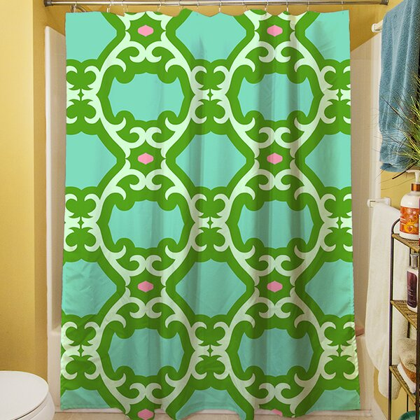 Francie Trellis Shower Curtain by Manual Woodworkers & Weavers