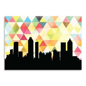 Atlanta Triangle Graphic Art by East Urban Home