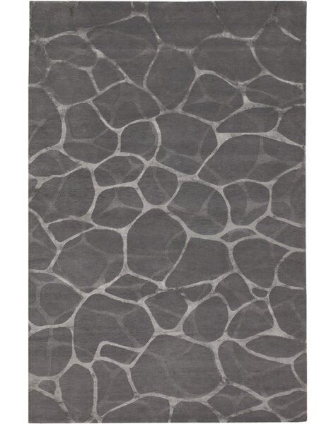 Amelia Flagstone Hand-Knotted Gray Area Rug by Orren Ellis