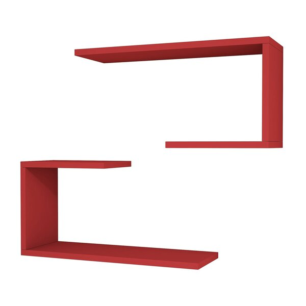 Anvi Modern Wall Shelf (Set of 2) by Latitude Run
