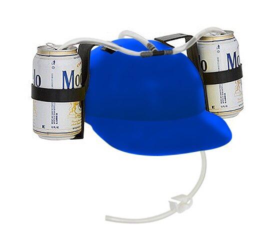 Beer And Soda Helmet Drinking Hat Set Of 2 By Trademark Innovations.
