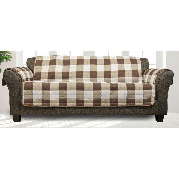 Printed Plaid T-Cushion Sofa Slipcover By Millwood Pines