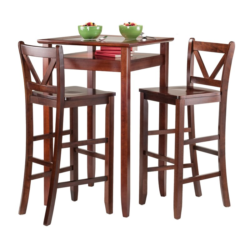 5 Piece Belmont Dining Room Collection: Alcott Hill Belmont 3 Piece Pub Table Set & Reviews