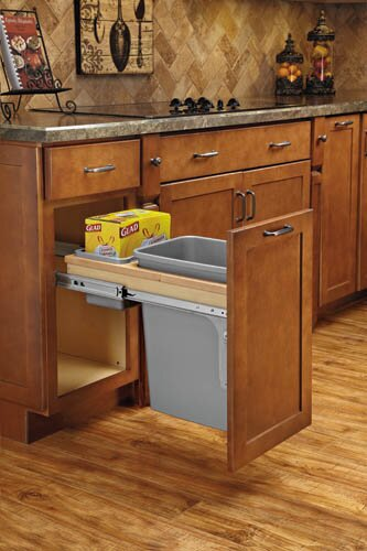 Top Mount 8.75 Gallon Pull Out/Under Counter Trash by Rev-A-Shelf