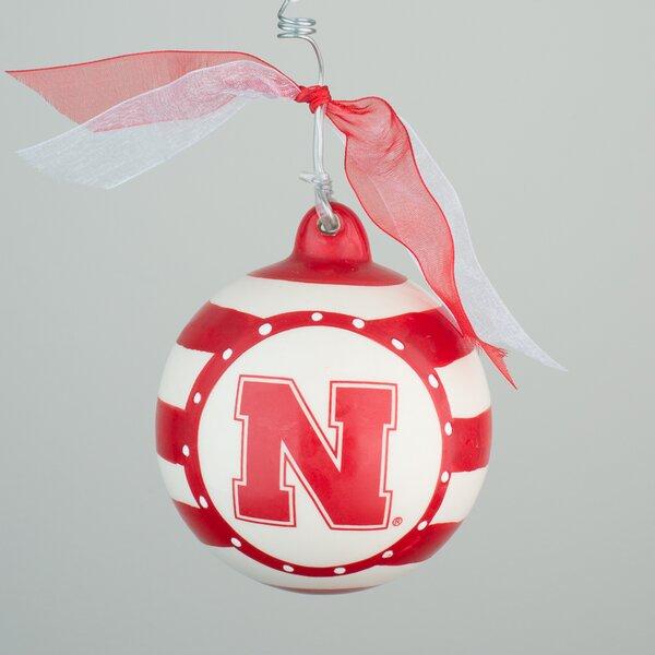 Nebraska Stripe Ball Ornament by Glory Haus