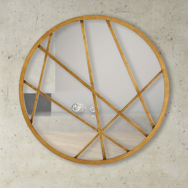 Urban Interesting Round Artistic Wall Mirror by Majestic Mirror