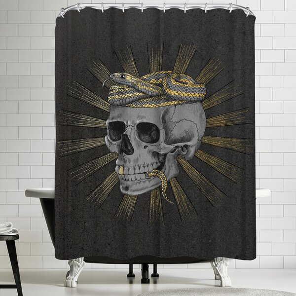 Laura Graves Stay Gold Shower Curtain by East Urban Home